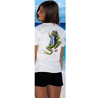 Buy Amphibious Outfitters Scuba Frog Shirt White L by Amphibious Outfitters