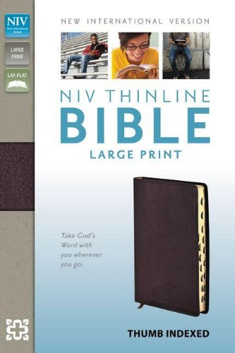 NIV Thinline Bible, Large Print Indexed