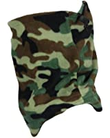 Outdoor Snow Winter Warm Adjustable Camouflage Print Snood Neck Warmer Ski Beanie Hat