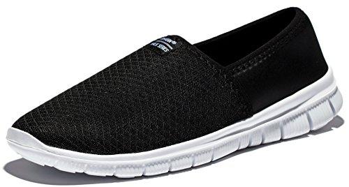 Anlarach Lite Racer slittamento uomo sui fannulloni casuale che cammina flessibile New Light Weight Vacci scarpe sportive EU 43 Nero