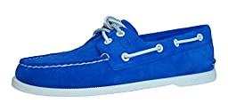Sperry Top-Sider Men\'s A/O 2 Eye Blue Suede Boat Shoe 11.5M