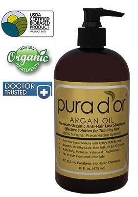 Pura d'or Premium Organic Anti-Hair Loss Shampoo (Gold Label) by Pura d'or