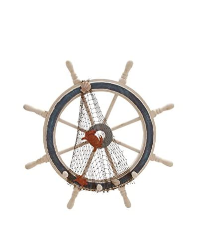 Wood Two-Tone Ship Wheel