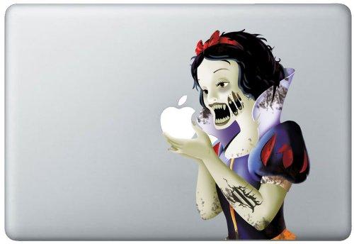 白雪姫 ゾンビver. 13インチ Mac book 対応 アートステッカー 【並行輸入品】 イラスト付き日本語PDF説明書付き