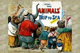 30 x 20 Stretched Canvas Poster Animals Trip to the Sea