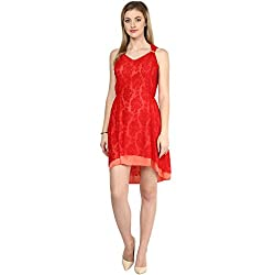 LY2 Red coral Color Western Wear for Stunning look
