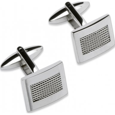 Unique Jewellery QC-103 Mens Stainless Steel Cufflinks