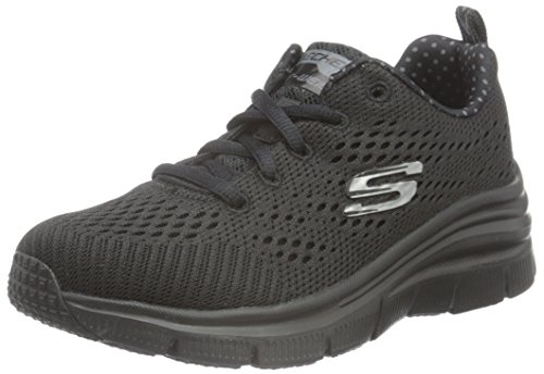 Skechers (SKEES) - Fashion Fit-Statement Piece, Scarpa Tecnica da donna, nero (bbk), 39