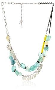 "Kenneth Cole New York ""Seascape"" Semiprecious Stone Necklace, 21"""