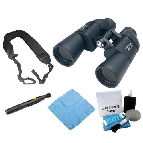 Bushnell 175010C Permafocus 10X50Mm Performance Optics Binocular + Enhanced Lens Cleaning Kit + Accessory Kit