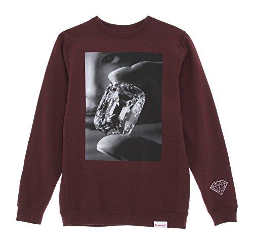 Diamond Supply Co. Men's Focus Sweatshirt Small Burgundy (Mens Diamond Supply Co Sweatshirt compare prices)