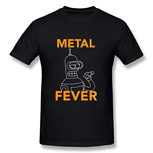 mens-funny-tee-futurama-metal-fever-black-size-m