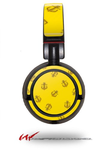 Anchors Away Yellow - Decal Style Vinyl Skin Fits Sony Mdr Zx100 Headphones (Headphones Not Included)