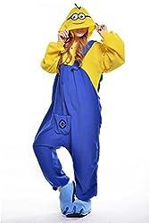 VU ROUL Unisex-adult Clothing Kigurumi Cosplay Costume Minions Smile Pyjamas