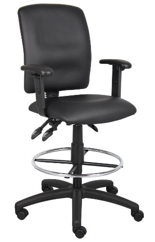 boss-office-products-b1646-multi-function-leatherplus-drafting-stool-with-adjustable-arms-in-black