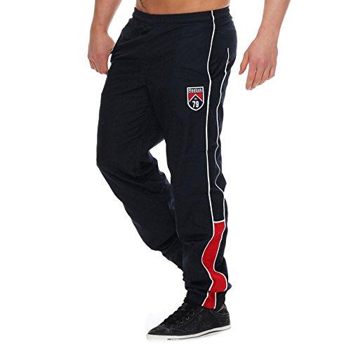 Reebok -  Pantaloni sportivi  - Uomo blu scuro Small