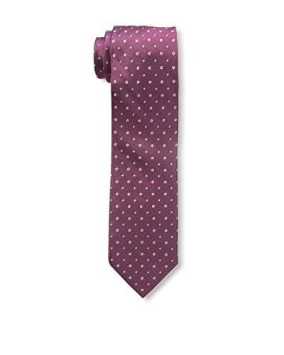 Bruno Piattelli Men's Classic Spaced Dot Slim Silk Necktie, Red
