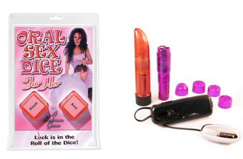 Pipedreams- Oral Sex Dice For Her Multi-Product Value Bundle - Sex Toy Kit