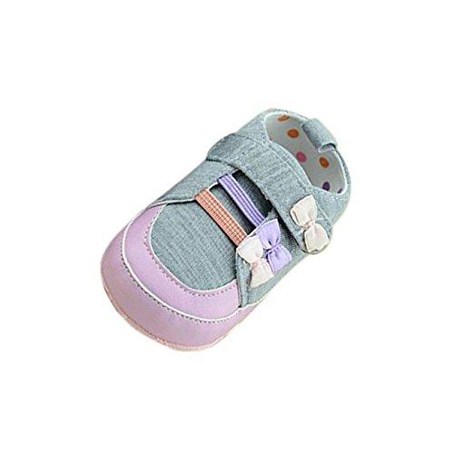kingko® Bébés filles Stitching bowknot Newborn Coton Tissu Anti-Slip Chaussures enfant souple