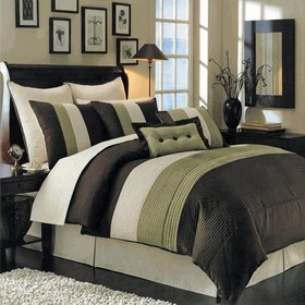 Green And Chocolate Bedding