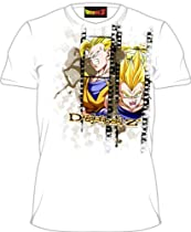 Dragonball Z Goku & Vegeta Filmstrip White Adult Tee T-Shirt