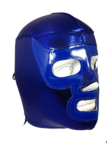 BLUE RAMSES Adult Lucha Libre Wrestling Mask (pro-fit) Halloween Costume Wear - Blue