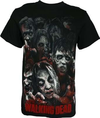The Walking Dead Zombie Horde Men's T-Shirt, Black, Small
