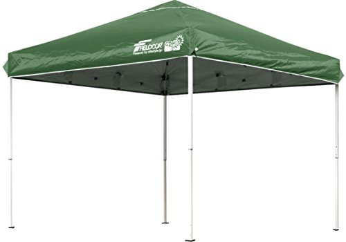 FIELDOOR easy Assembly! 2.5x2.5M OneTouch tarp tent green G03 (highly water-resistant machined & silver coatings UV cut coatings)