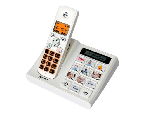 Geemarc Photodect Téléphone sans fil Blanc