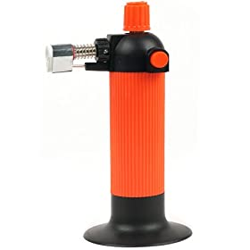 Trademark Tools 75-TZ6915 Hawk Self Igniting Refillable Butane Micro Torch with Ceramic Tip