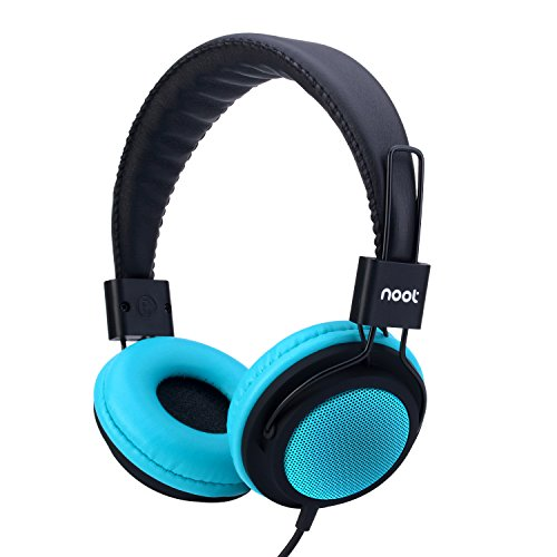 Kids Headphones with Microphone On-Ear Headset Made for iPhone, iPod, iPad, Samsung, HTC, LG and More (NT-H2 Teal) (Phone Kids compare prices)