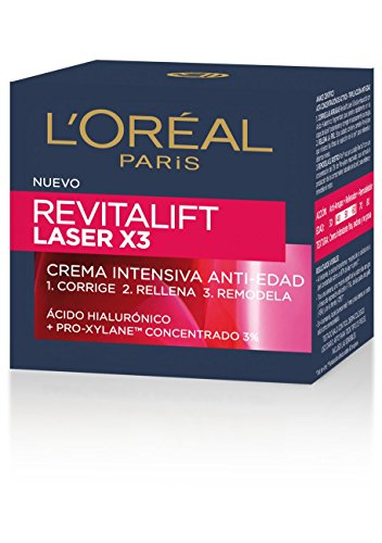 L'Oréal Paris - Crema intensiva Día SPF30 Revitalift Láser x3