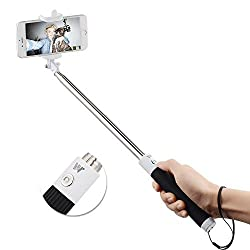 ApeCases Branded FOLDABLE PORTABLE Bluetooth MINI Foldable Selfie Stick Compatible with all Android & IPHONE