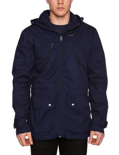 Wrangler Long Nylon J Men's Jacket Peacoat Medium