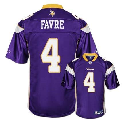 brett favre vikings jersey. Brett Favre Purple Reebok NFL