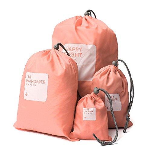 CAMTOA 4 in1 Impermeabile Coulisse Borsa di Stoccaggio/Storage Bag/Sacchetto di Viaggio - Scarpe / Lavanderia /Biancheria intima/Trucco Pouch Bag Stuff Bag Deposito Organizzatore -5 Colori & 4 Formati