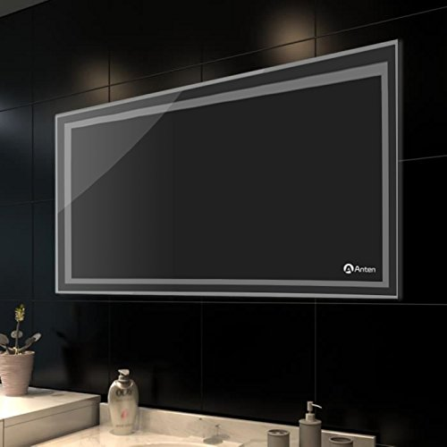 Anten-Elegant-LED-Badezimmerspiegel-Wandspiegel-Bad-Spiegel-Lichtspiegel-Gre-80x60CM-18W-Kaltwei-6000K-Design-Kosmetik-Spiegel-Toiletten-Spiegel-mit-Beleuchtung