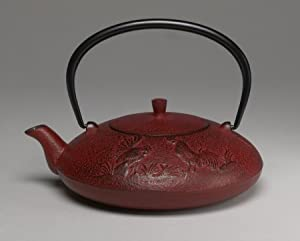 Joyce Chen 22-Ounce Japanese Tetsubin Cast-Iron Year of the Rooster Teapot, Red