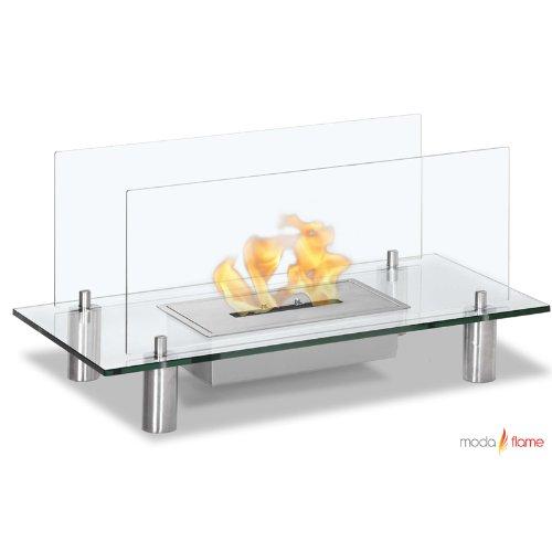 Baza Free Standing Floor Indoor / Outdoor Ethanol Fireplace Clear picture B00C20RRUM.jpg
