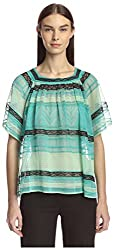 M Missoni Women's Sheer Knit Top, Mint, 40 IT/6 US