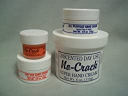 No-Crack Unscented Day Use Hand Cream -4oz (with 3 pocket/purse sizes)