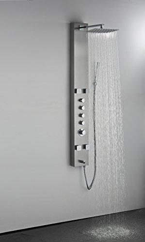 Art of Bath DB-8001SS Wall Mount Easy Connection 60 Bathroom Shower Panel System w/ 12