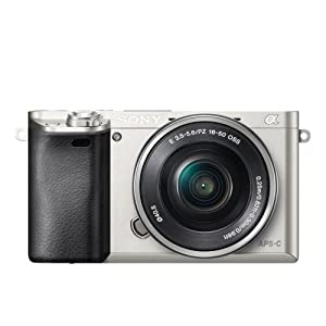 Sony A6000 Interchangeable Lens Digital Camera - Silver (24.3MP, SELP1650 Lens)
