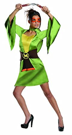 Secret Wishes Teenage Mutant Ninja Turtles, Michelangelo Costume, Green, X-Small
