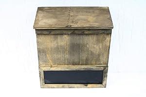 briefkasten aus holz antik lasiert shabby landhaus k che haushalt. Black Bedroom Furniture Sets. Home Design Ideas