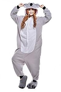 NEWCOAPLAY Unisex Onesies Pajamas Kigurumi Cosplay Sleepsuit Costume (S, Grey Koala)