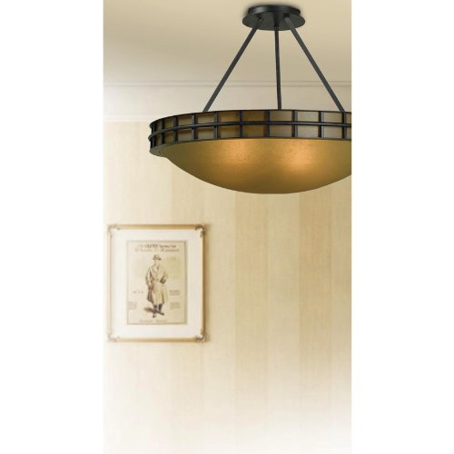 Kenroy Home 91597FGRPH Pane 2-Light Semi Flush