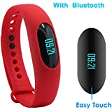 Fitness Tracker YAMAY Bluetooth Smart Bracelet Band Smartband Touch Screen Activity Tracker Pedometer Sleep Monitor...