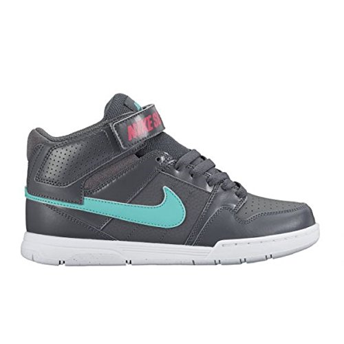 Nike Kid's Mogan Mid 2 JR B Skate Shoes (Little Kid/Big Kid) (4.5 M US Big Kid, Dark Grey/Hyper Pink/White) (Nike Mogan Mid 2 Jr compare prices)
