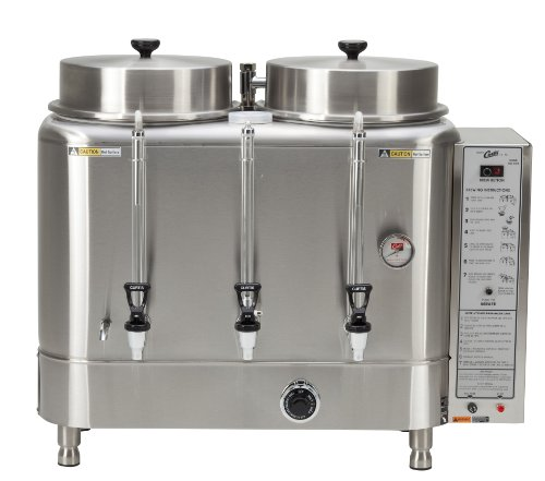 Wilbur Curtis Automatic Coffee Urn 3.0 Gallon Twin Coffee Brewer, 1 Ph 2W+G Natural Gas 120V 3.0A - Commercial-Grade Automatic Coffee Brewer - RU-300-35 (Each)